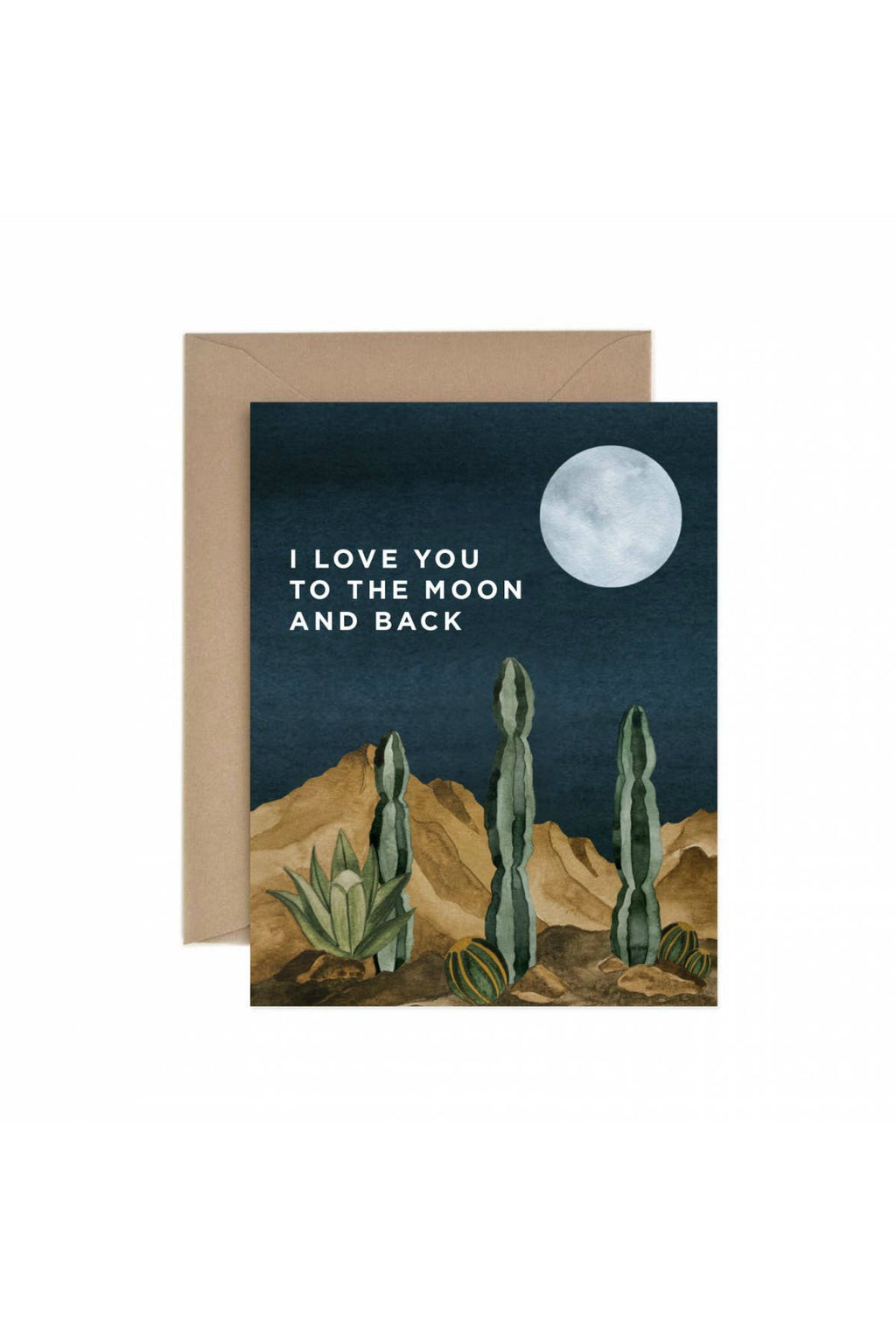 Paper Anchor Co. Moon and Back Love Greeting Card