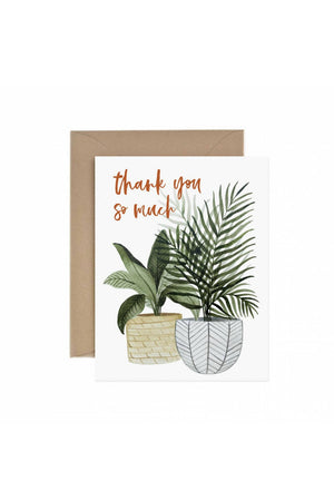 Paper Anchor Co. Thank You So Much Potted Plant Greeting Card