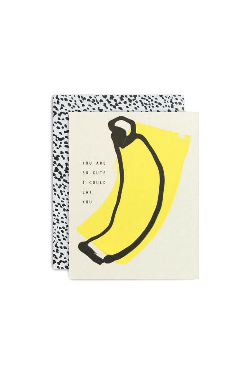 Moglea Cute Banana Love & Friendship Greeting Card