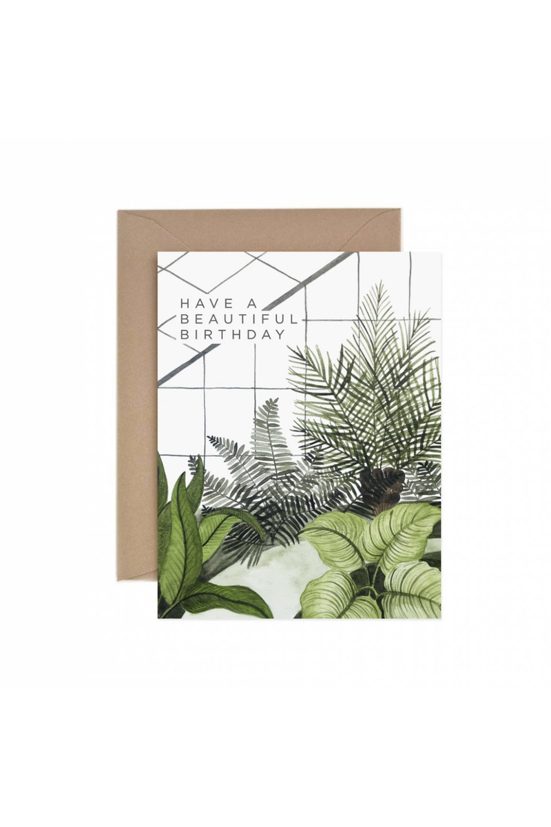 Paper Anchor Co. Beautiful Birthday Greenhouse Greeting Card