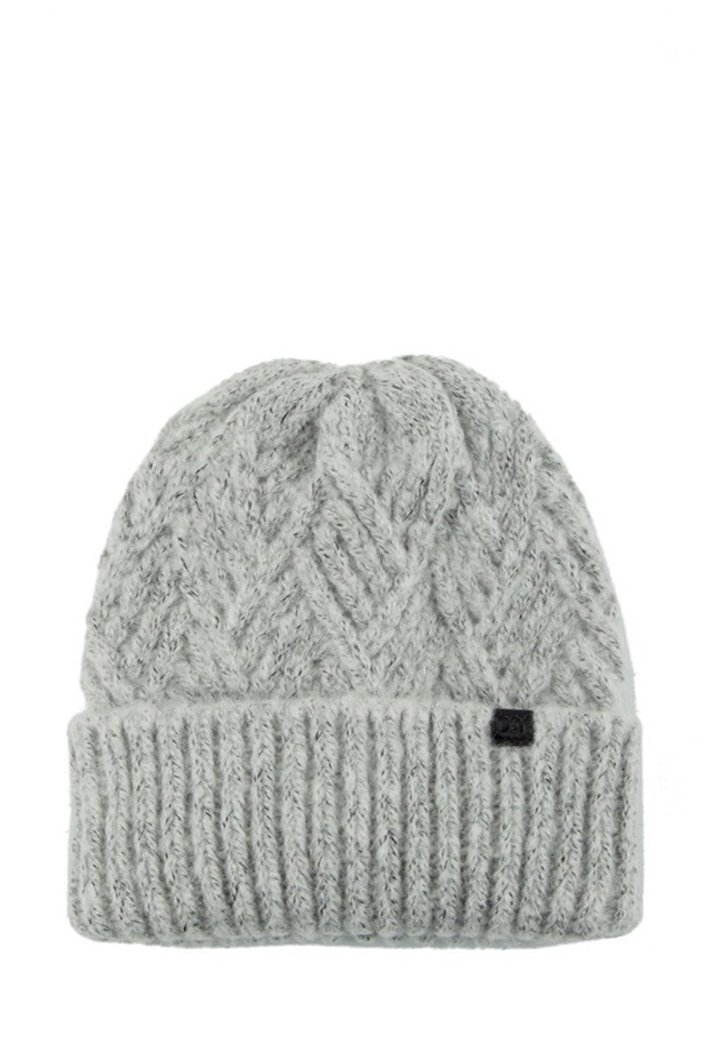 EcoVibe Style - Diamond Basket Weave Beanie in Grey, EcoVibe | Grey