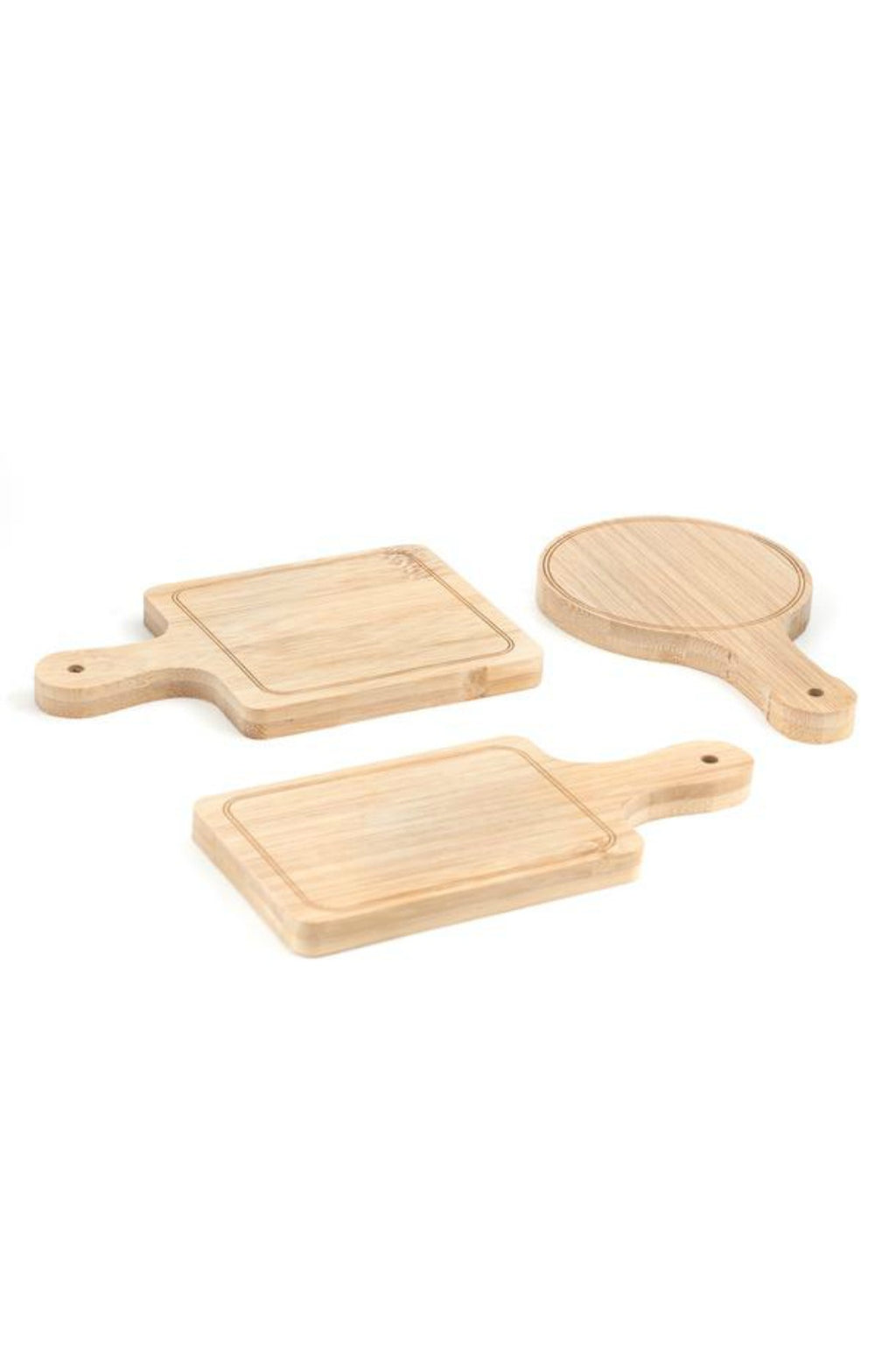 Kikkerland Mini Bamboo Serving Trays