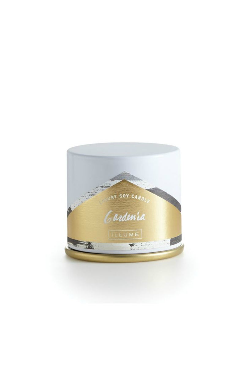 Illume Gardenia Demi Vanity Tin Candle