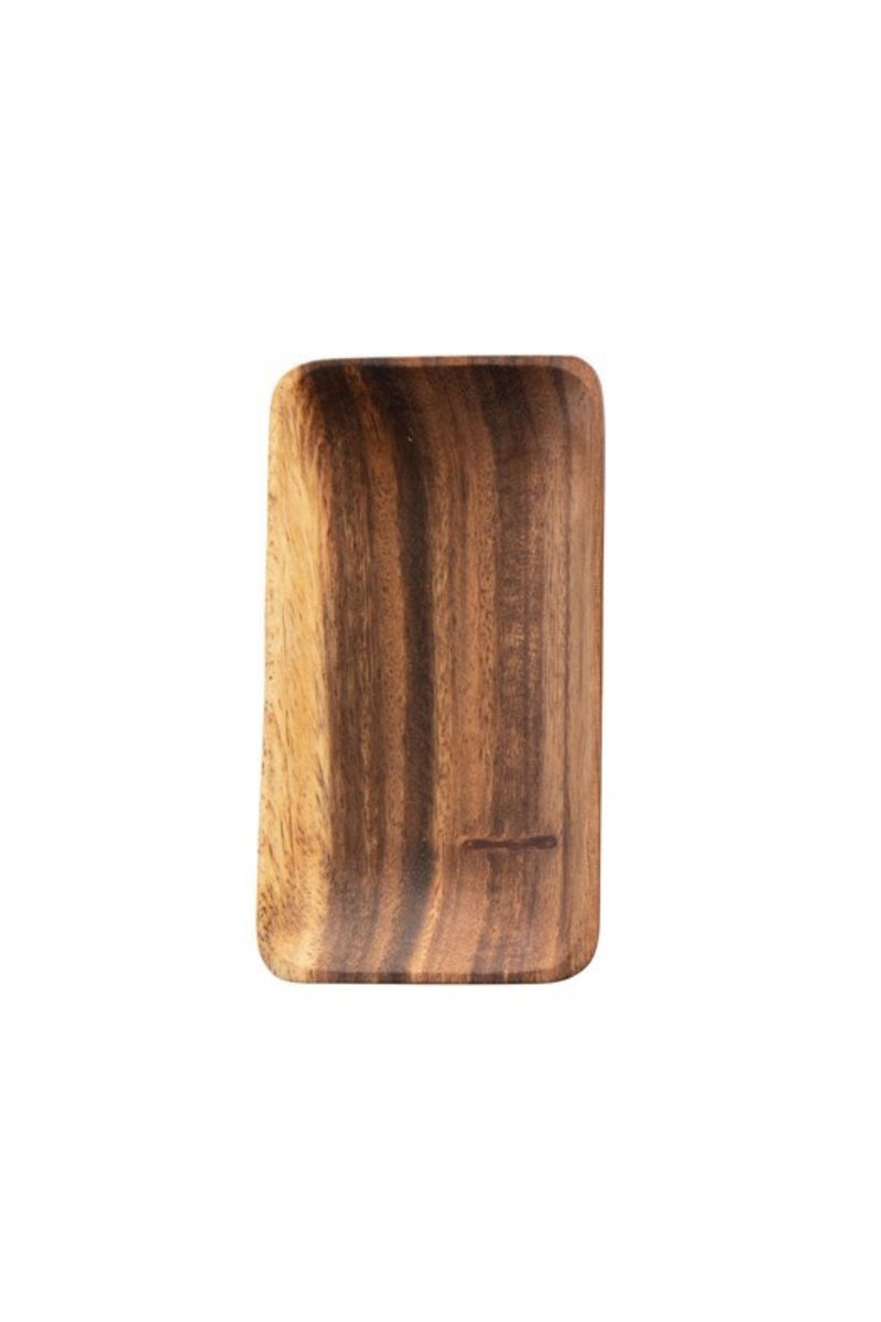 Creative Co-op Small Acacia Wood Tray DF4441