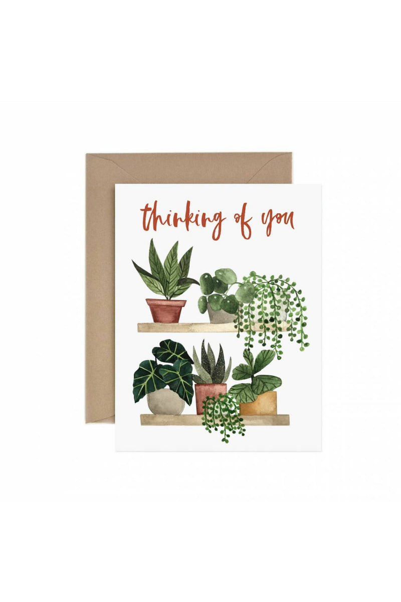 Paper Anchor Co. Thinking of You Plant Shelf Greeting Card