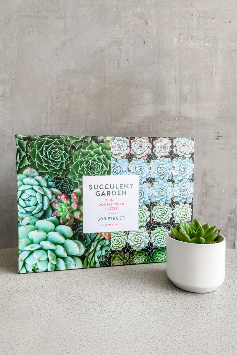 Succulent Lover Puzzle Gift Set