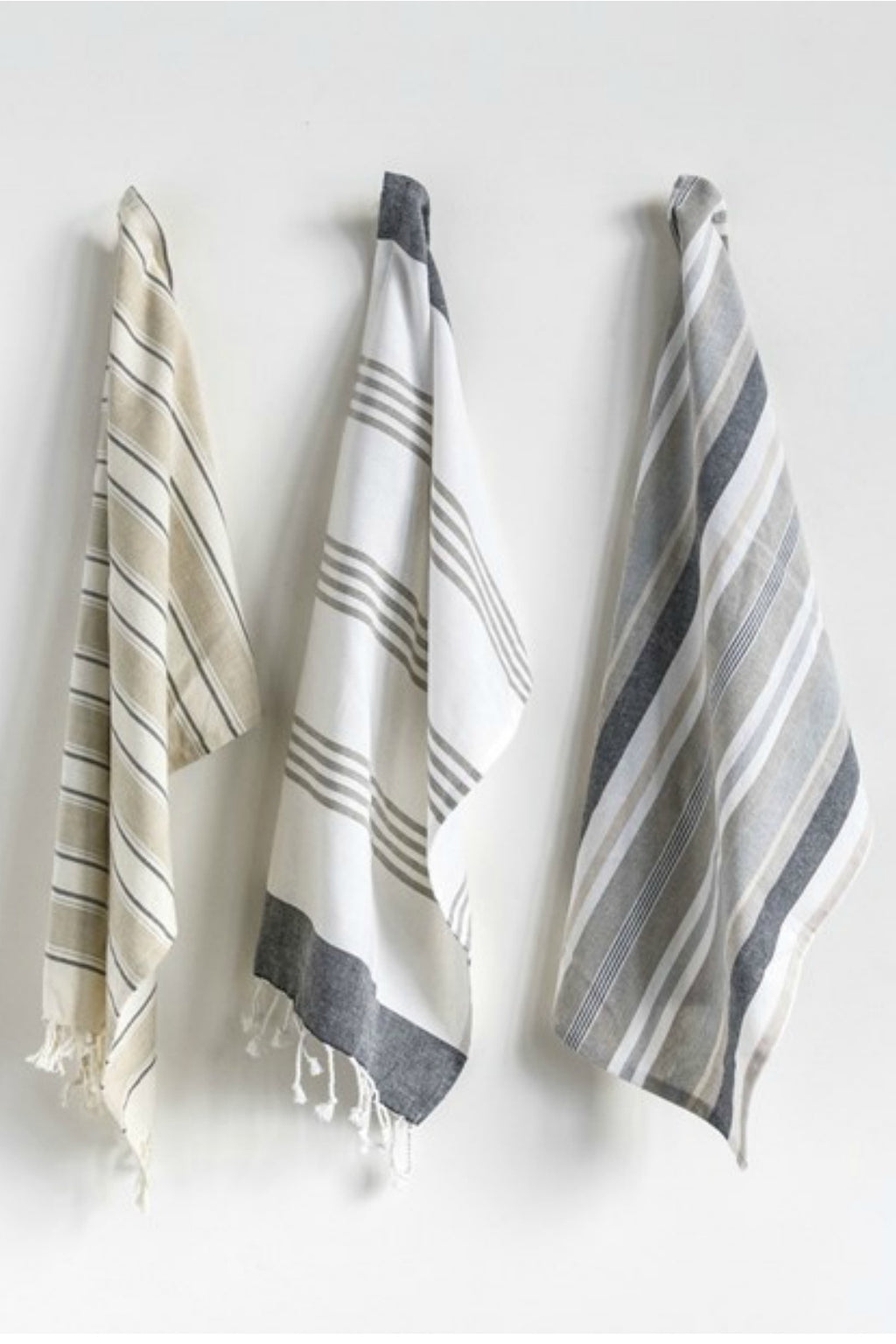 Creative Co-Op Cotton Striped Tea Towels, Set of 3