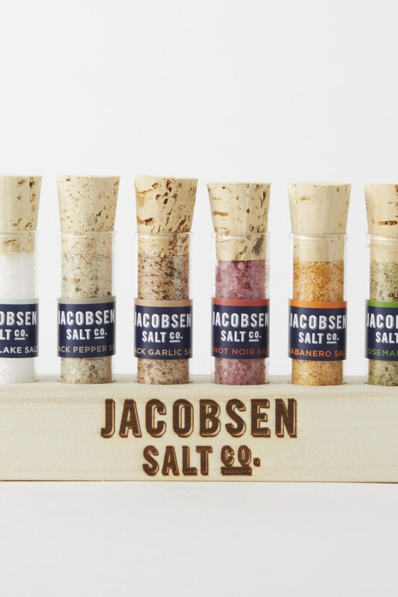 Jacobsen Salt Co. Infused Vial Sea Salt Set