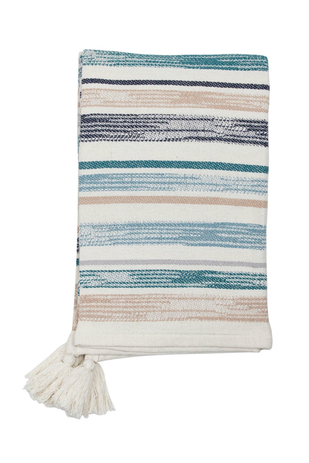 Foreside Hand Woven Hayes Throw in Blue