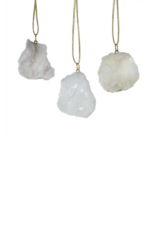 Accent Decor Stone Ornaments- Geode