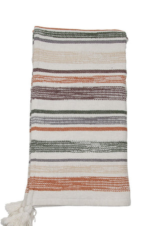 EcoVibe Style - Hand Woven Multi Hayes Throw, Pillows + Throws