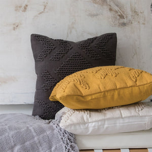 EcoVibe Style - Handwoven Nia Pillow in Mustard, Pillows + Throws