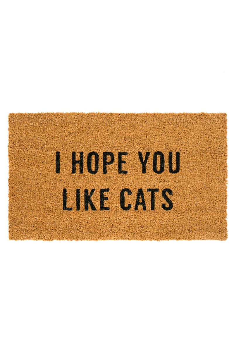 Indaba I Hope You Like Cats Door Mat