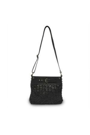 Anabaglish Joan Woven Leather Bag in Black