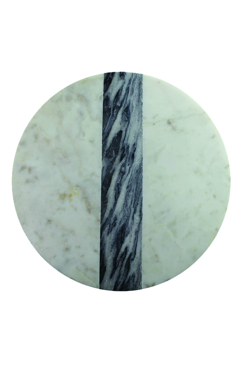 Be Home White + Grey Marble Round Board