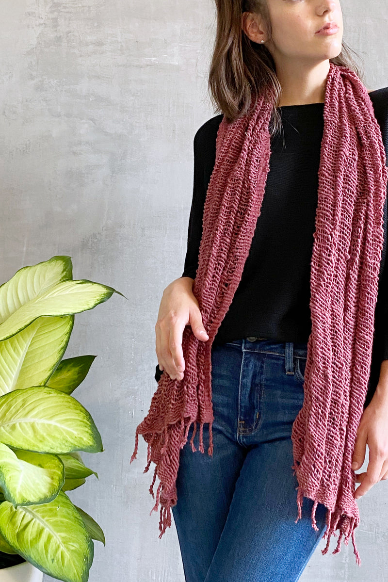 Rubyzaar Organic Cotton Scarf Oxblood