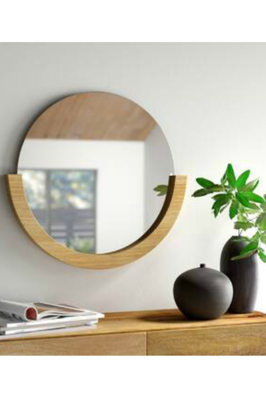 Umbra Mira Mirror in Natural Wood