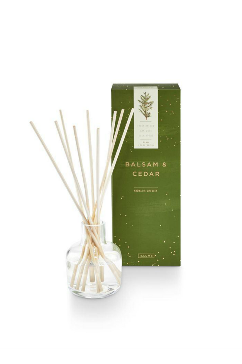 Illume Noble Holiday Diffuser Balsam & Cedar