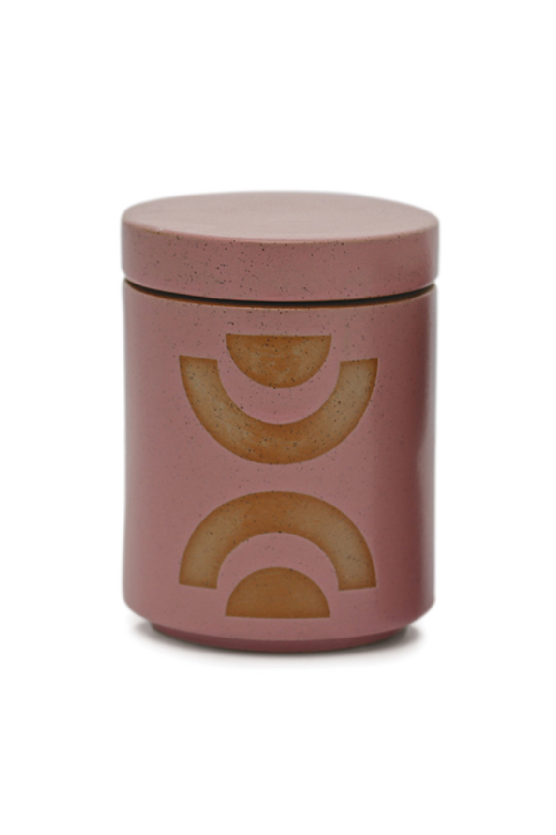 Paddywax Form Ceramic Candle with Lid, Mandarin Mango