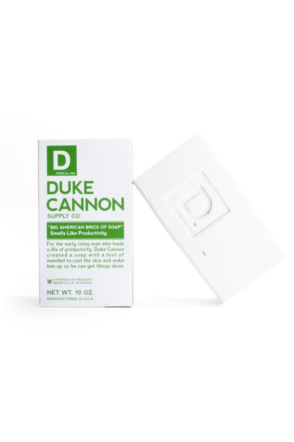 EcoVibe Style- Duke Cannon Big Ass Brick of Soap- Productivity