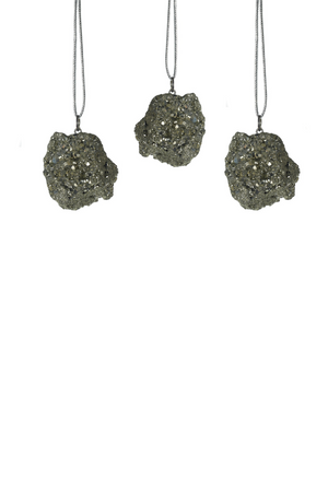Accent Decor Stone Ornaments- Pyrite