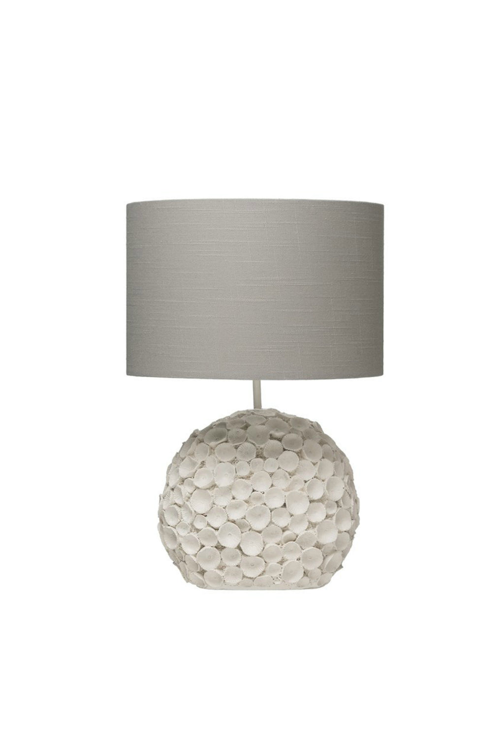 Creative Co-op Distressed Resin Table Lamp with Linen Shade