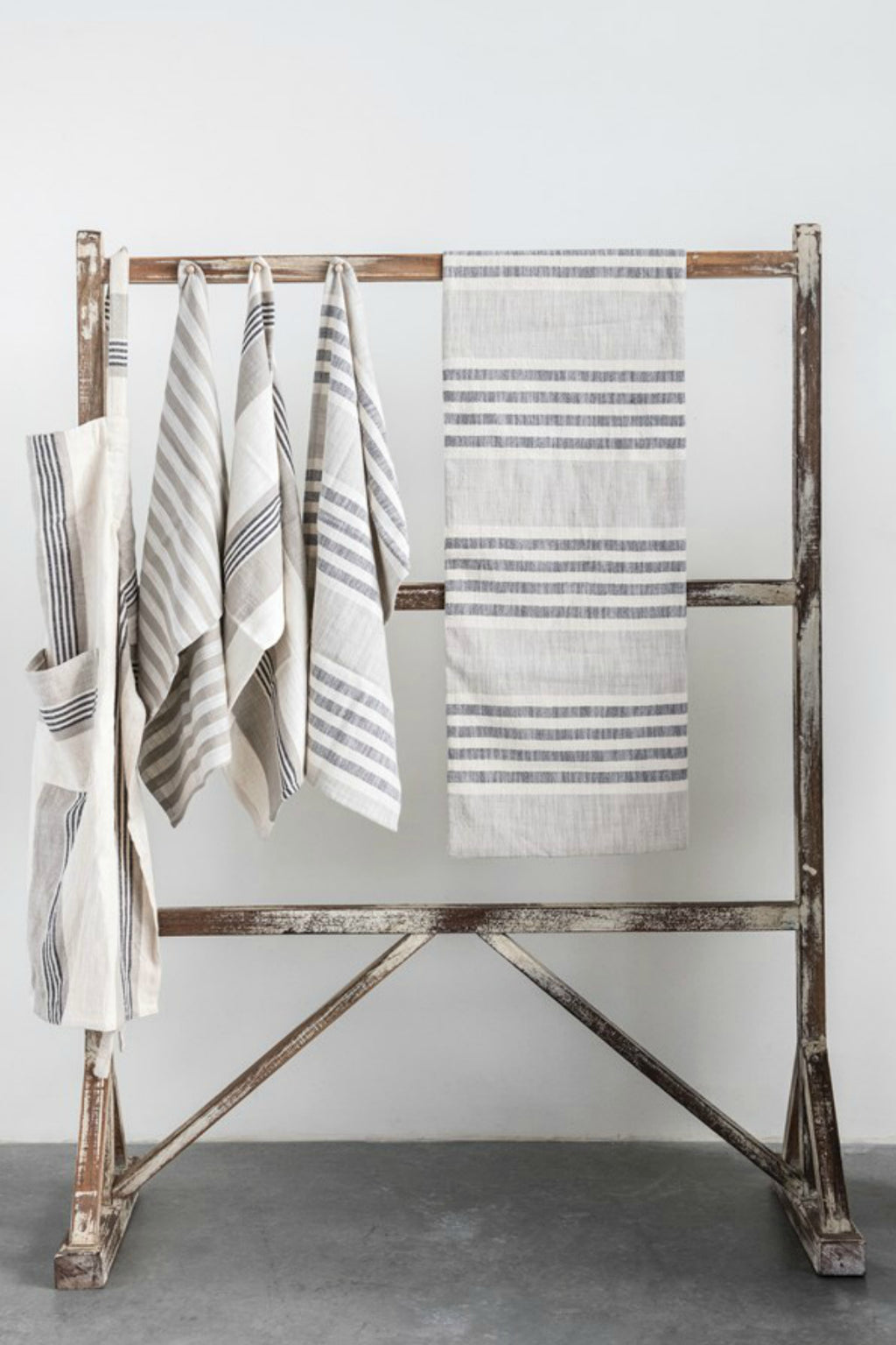 Creative Co-op Woven Cotton Stripe Table Runner