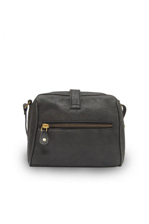 EcoVibe Style - Sam Small Leather Crossbody Bag in Black,
