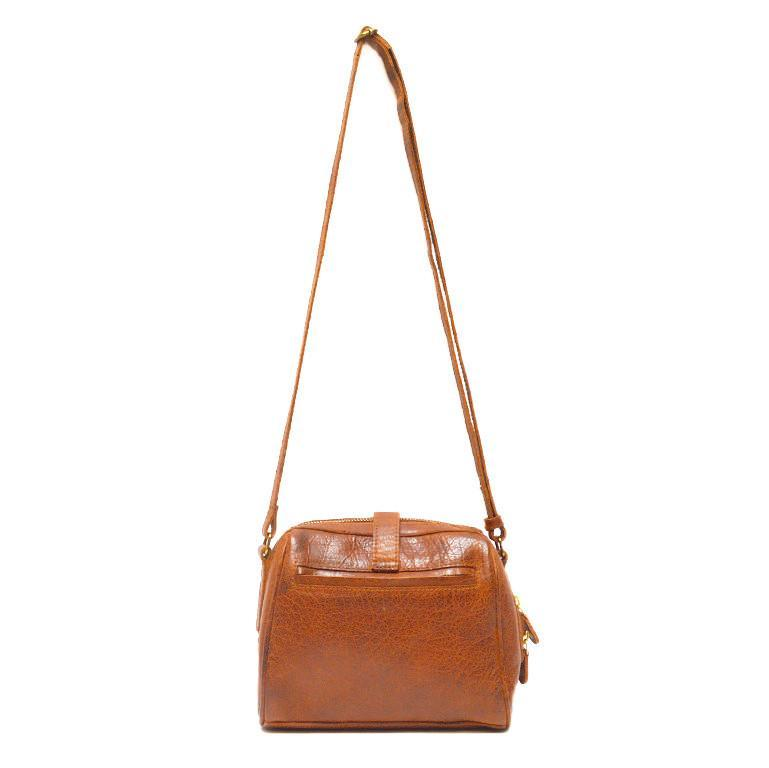 EcoVibe Style - Sam Small Leather Crossbody Bag in Brown,