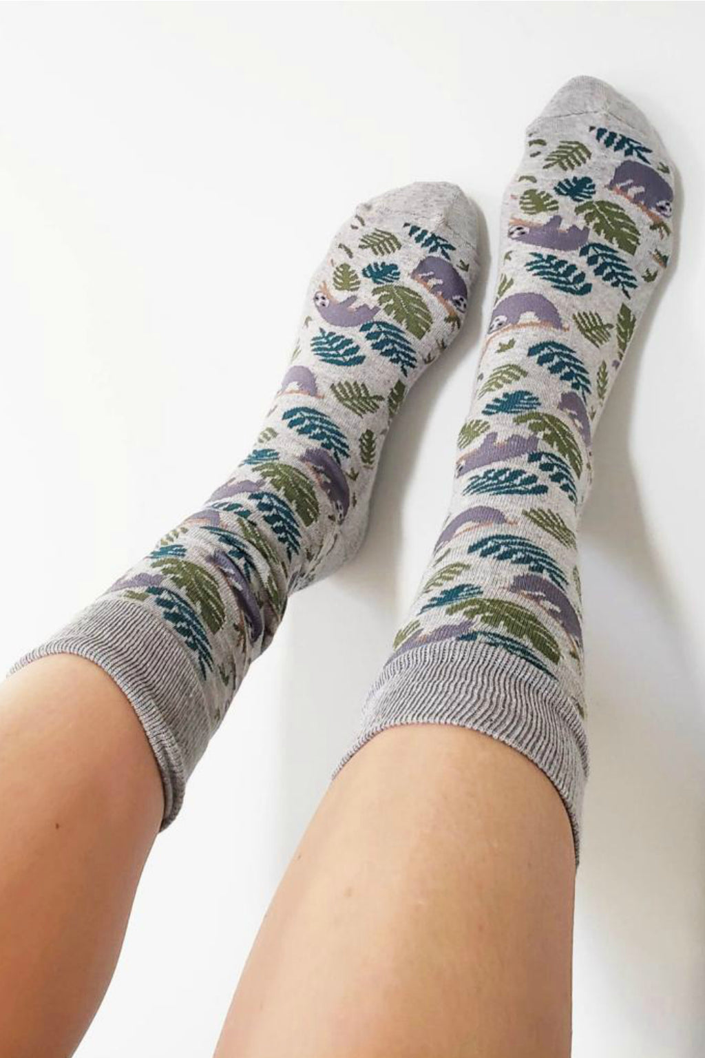 Conscious Step Socks that Protect Sloths - Grey