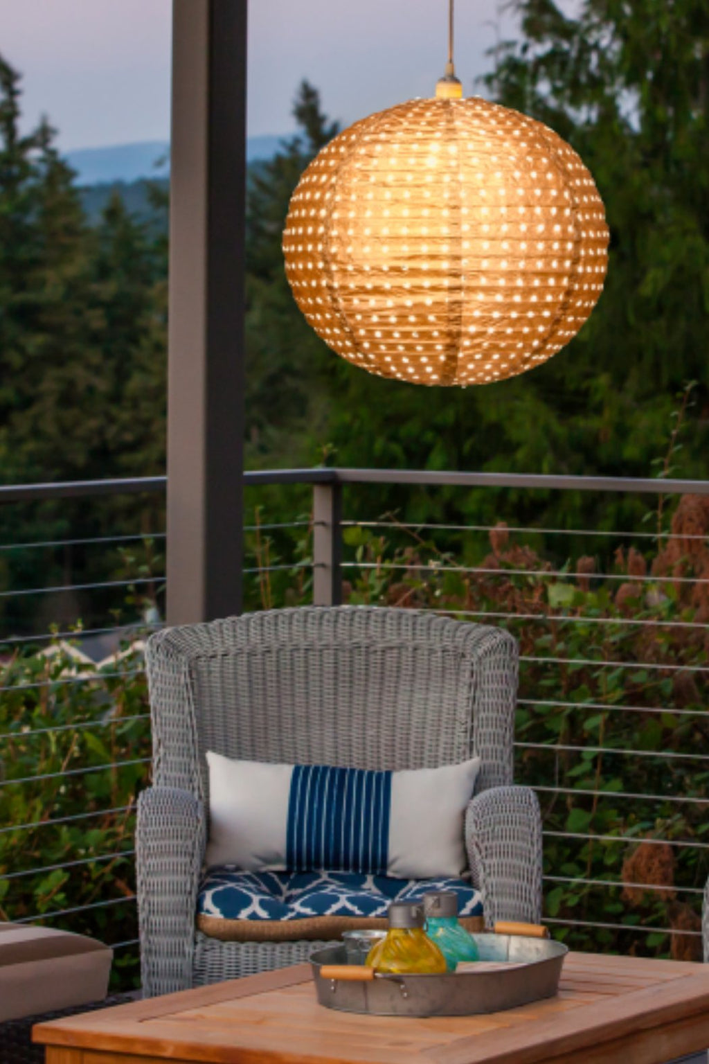 Allsop Soji Stella Nova Swiss Dot Copper Indoor/Outdoor Pendant Lamp