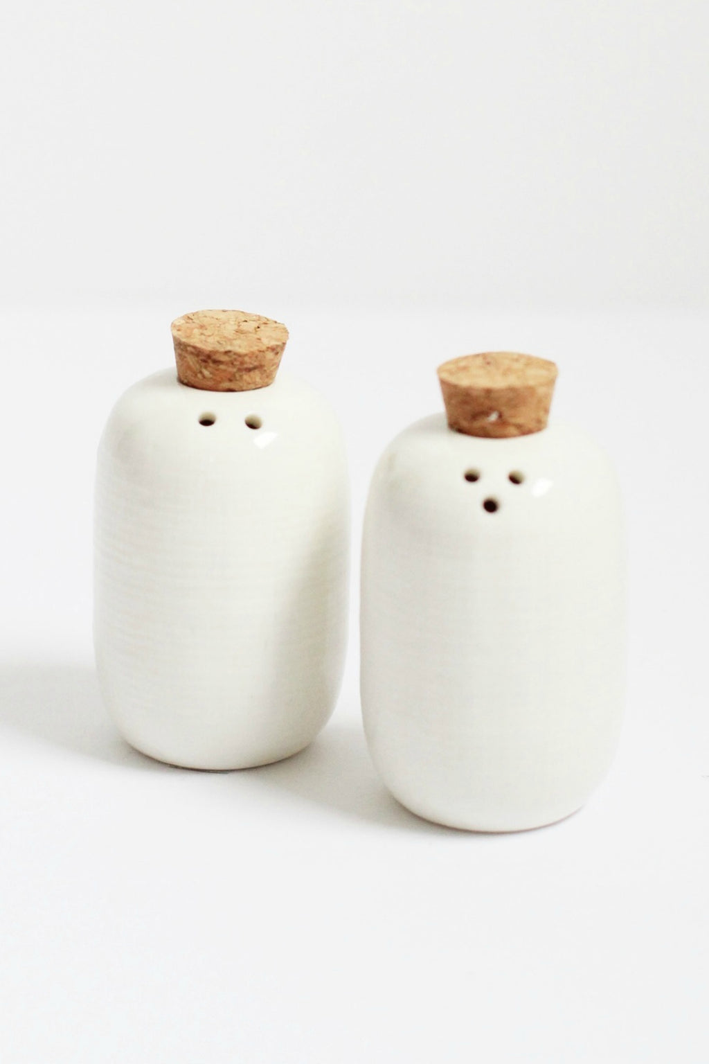 Bloomingville Embossed Ceramic Salt & Pepper Shakers