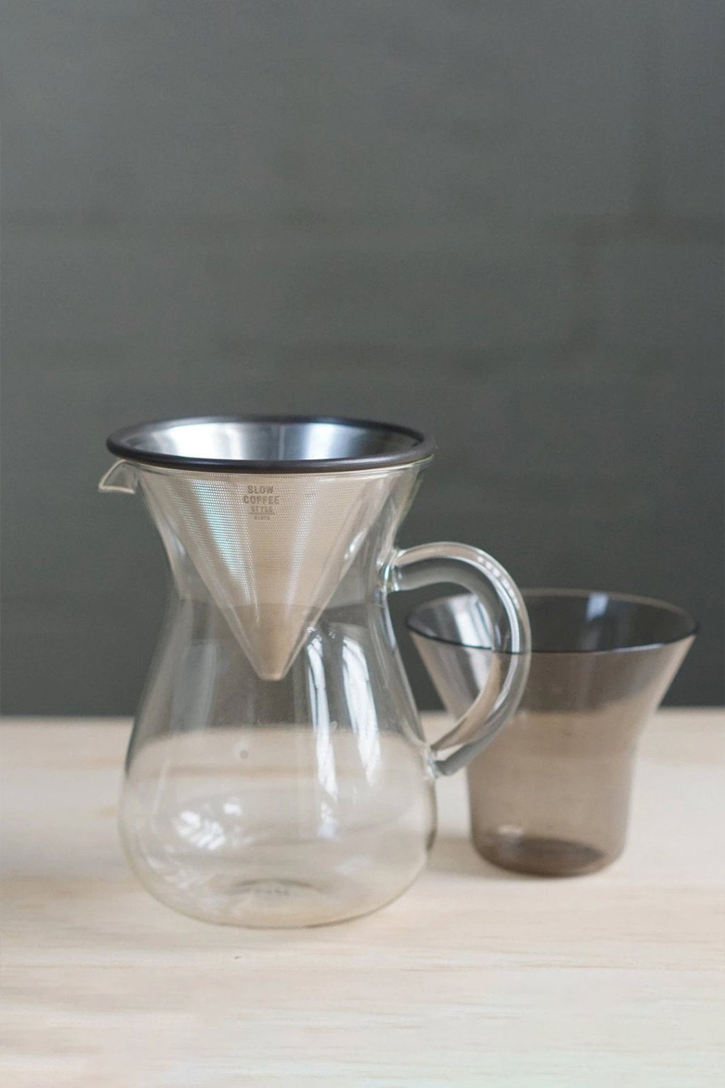 Kinto Stainless Steel + Glass Coffee Carafe Set