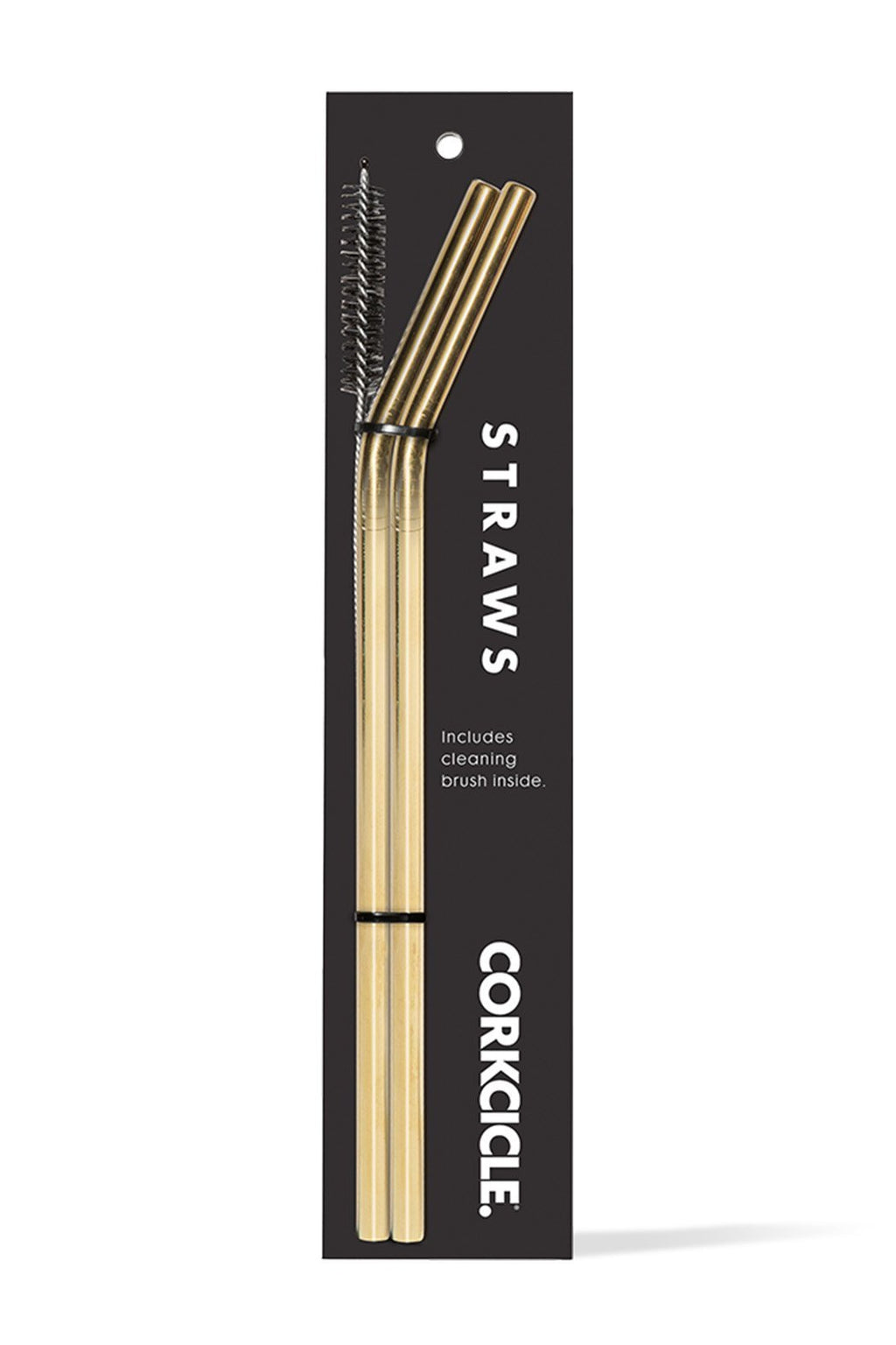 Corkcicle Gold Tumbler Straw, Pack of 2