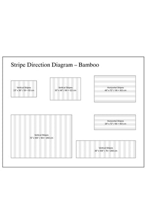 Bamboo Stripe Direction Diagram
