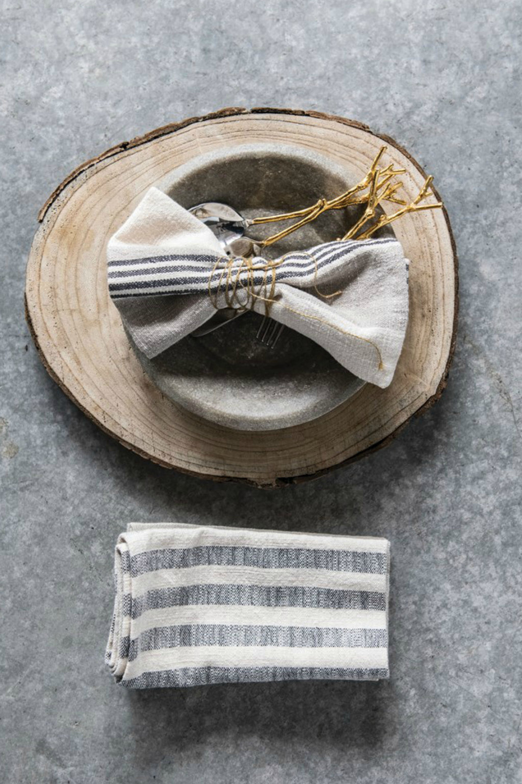 Creative Co-Op Woven Cotton Striped Napkins