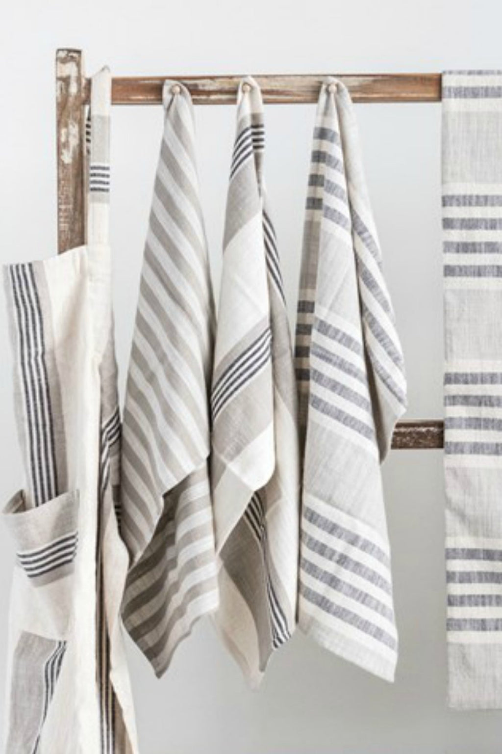 Creative Co-op Woven Cotton Striped Tea Towels