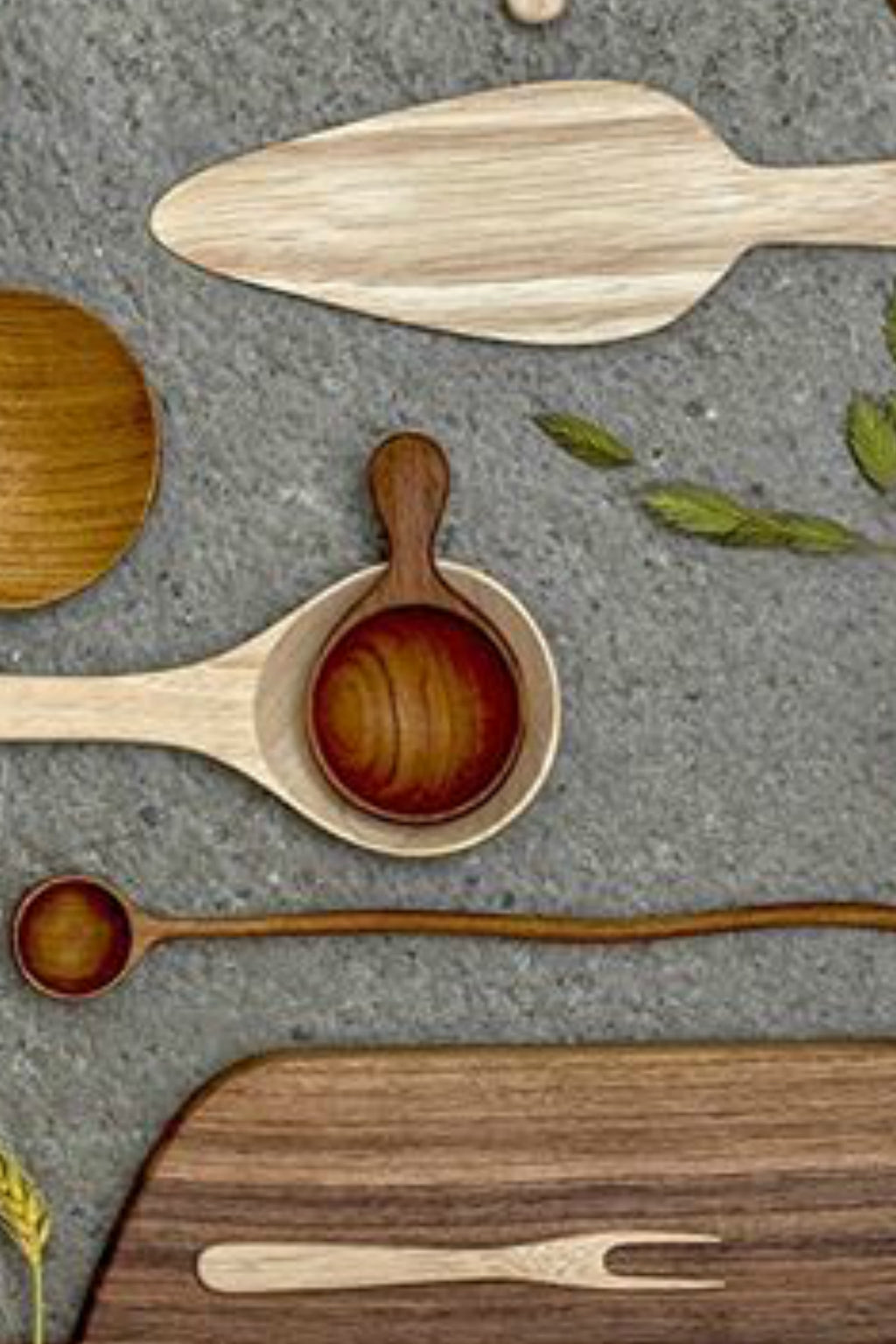 Bloomingville Hand Carved Teak Spoon