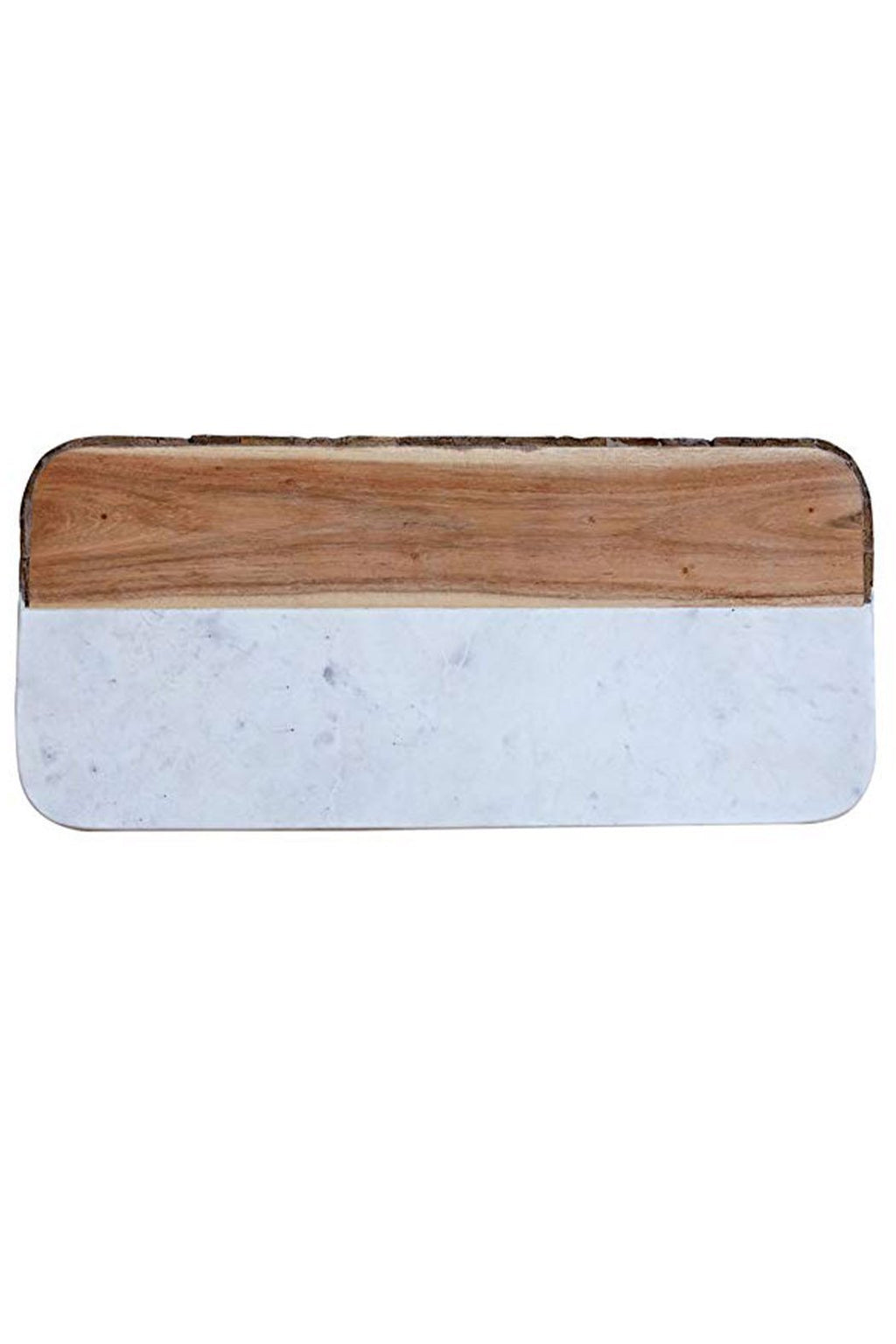 EcoVibe Style - White Marble & Mango Wood Cheese Board, KitchenwareCreative Co-op White Marble + Mango Wood Live Edge Board