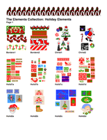 Holiday, Stitch Painter Elements (Digital Download)