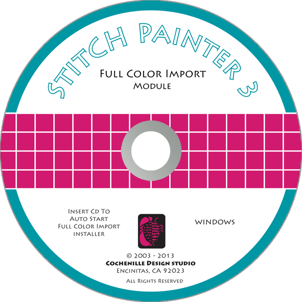 Stitch Painter Full Color Import Plug-In, Win (Digital Download)