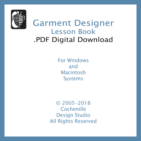 Garment Designer Lesson Book (Digital Download)