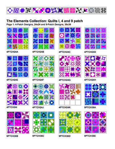 Quilt Blocks, SP Elements