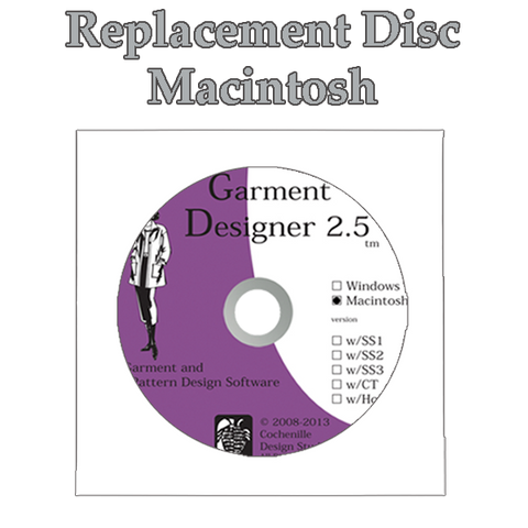 Garment Designer 2.5 Replacement Disc for Macintosh