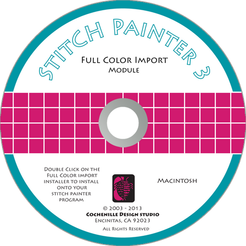 Stitch Painter Full Color Import Plug-In, Mac