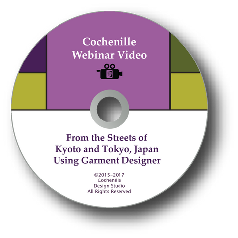 Webinar Video-From Kyoto to Tokyo Japan using Garment Designer DVD