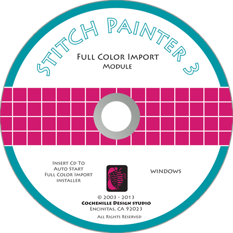 Stitch Painter Full Color Import Plug-In, Win