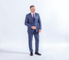 Baumler Blue Italian Wool Suit, Reda Wool, business wear and formalwear, great for all occasions