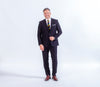 Baumler Navy Italian Wool Suit, Reda Wool, business wear and formalwear, great for all occasions