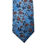 Knotz Tie, Blue, Red and Navy floral print. Can be paired with any blue or navy suits.
